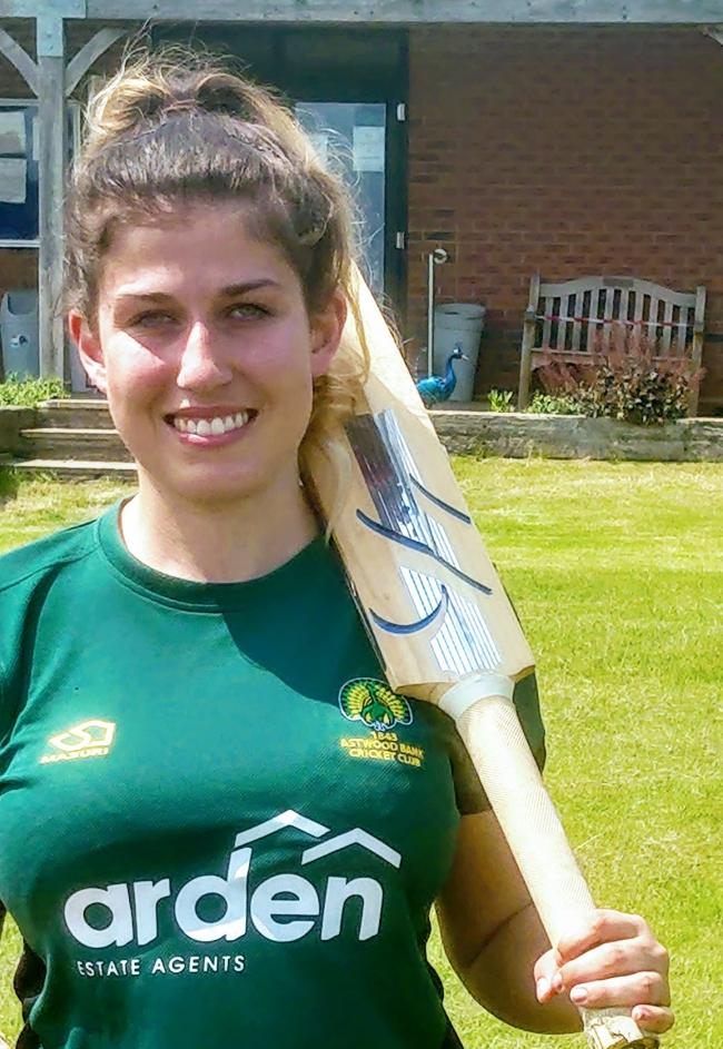 Emily Blakemore. Picture: Astwood Bank Cricket Club