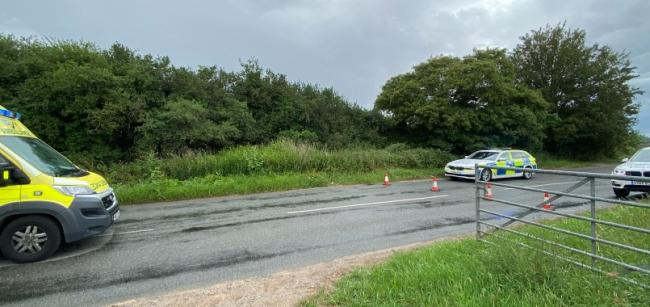 A man was rushed to hospital in a serious condition following the crash. PIC: OPUWorcs