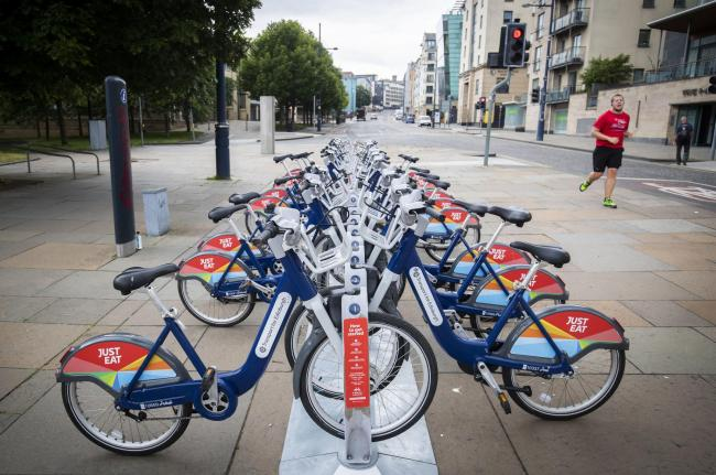 OPTION? A public cycle hire station in Holyrood, Edinburgh. Picture: Jane Barlow/PA Wire