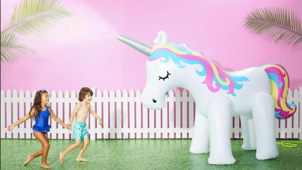 Redditch Advertiser: This unicorn sprinkler looms above kids, but it's a good size for adults, too. Credit: Sun Squad