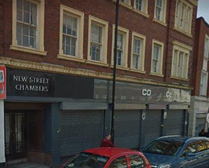 New Street Chambers on New Street in Dudley town centre. Image: Google Maps.