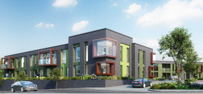 A CGI of the forthcoming new apartment block in Stourbridge Road, Lye. Image courtesy of Ruskin Properties