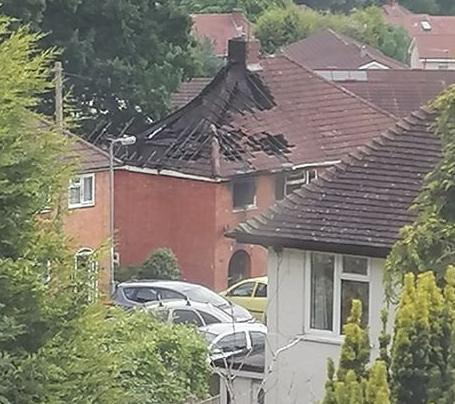 Redditch Advertiser: The aftermath of a house fire on Lilac Close, Redditch. PIC: Kirsty Sarah Jeens