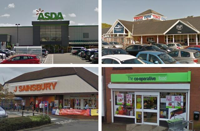 Staff who work across the 11 Asda, Sainsbury's, Tesco and Coop stores throughout Redditch are campaigning for equal pay compensation