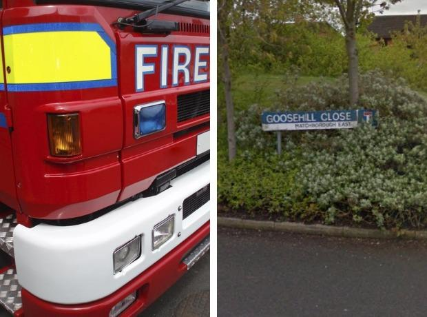 A fire broke out in the open at Goosehill Close. Picture: Google Maps