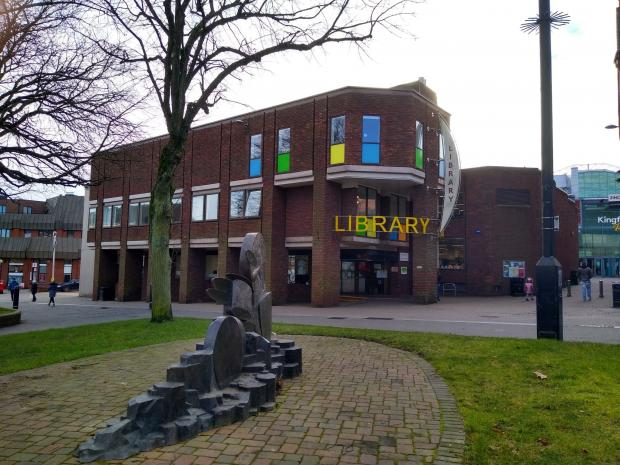 Redditch Advertiser: The library in Redditch town centre