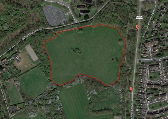 The earmarked site for a new cemetary in Ipsley PIC: Redditch Borough Council