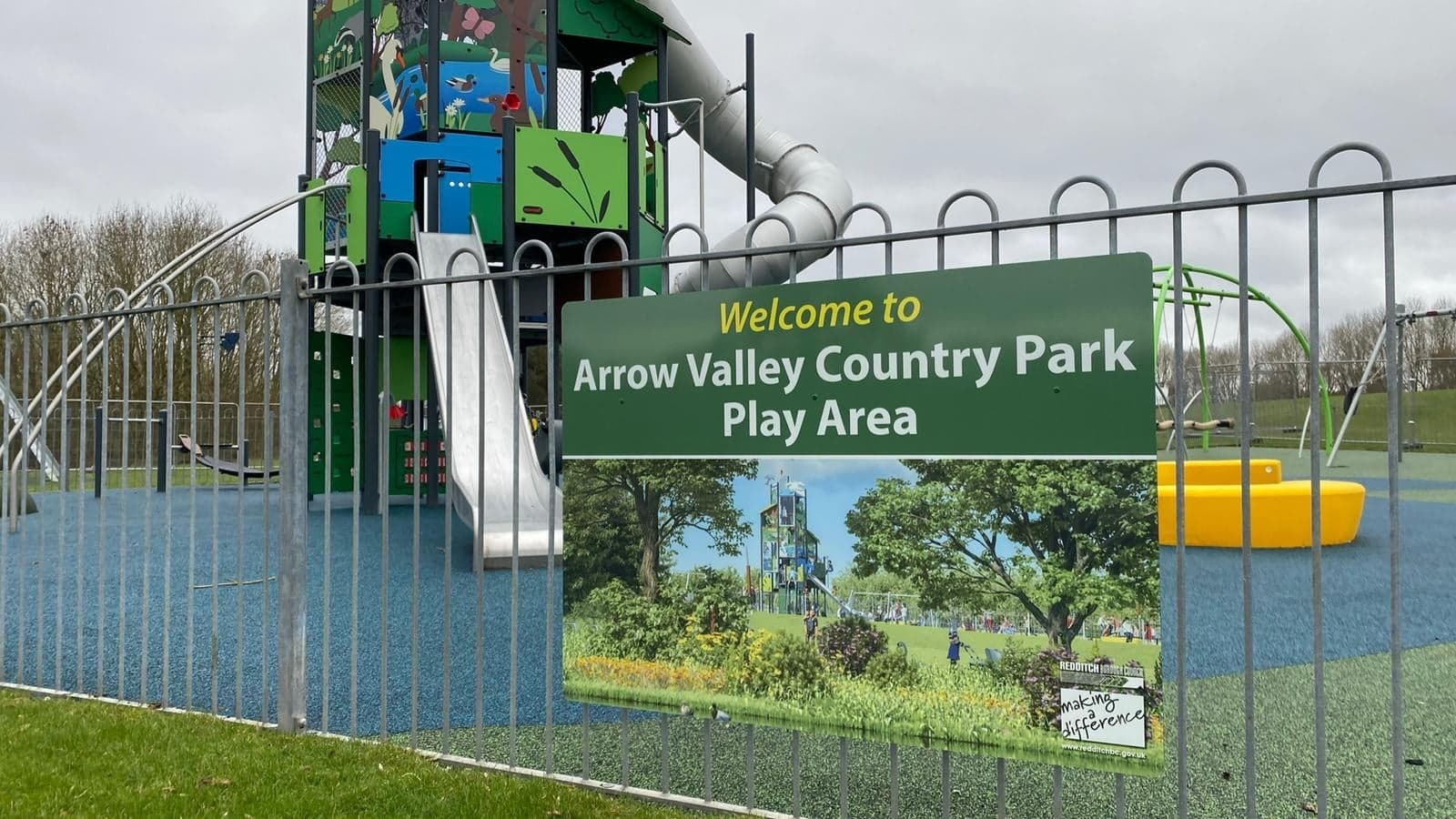 New Arrow Valley Country Park play area in Redditch