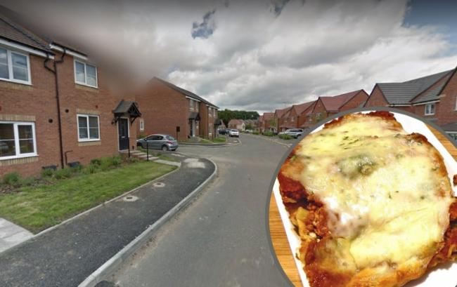 Dominic Greenhalgh threw a lasagne at a police cell wall after he was caught drug driving in Redditch. Main photo from Google Maps