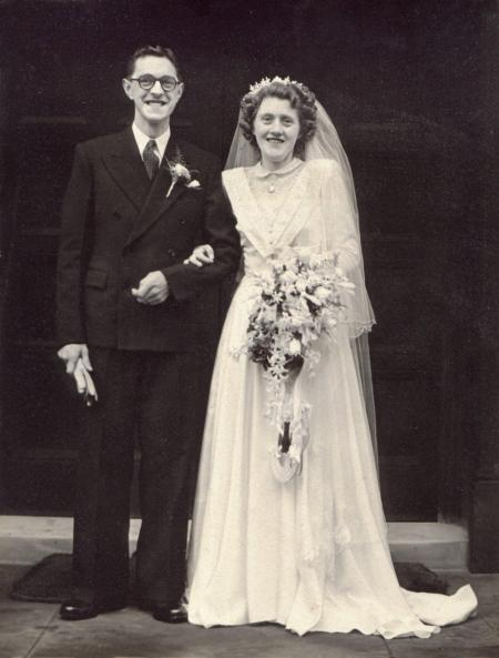 John and Beryl Finch on their wedding day