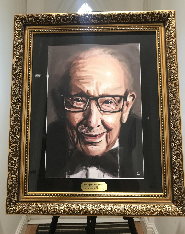 La peinture numérique du capitaine Sir Tom Moore a fait un don pour la collecte de fonds du NHS