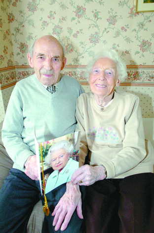 Charles and Iris Cable have celebrated their 75th wedding anniversary. Buy photo: RMM341005a