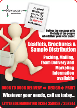 Redditch Advertiser: leaflet distibution promotion