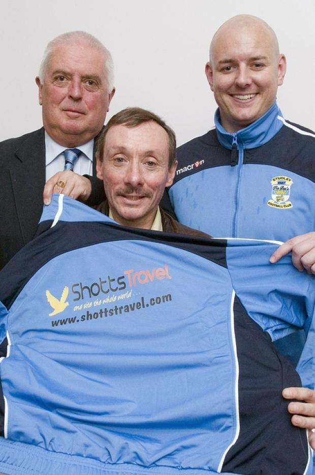 Backers: Bees boss Lee Knight (right) with Summit Sports' Steve Voice (left)