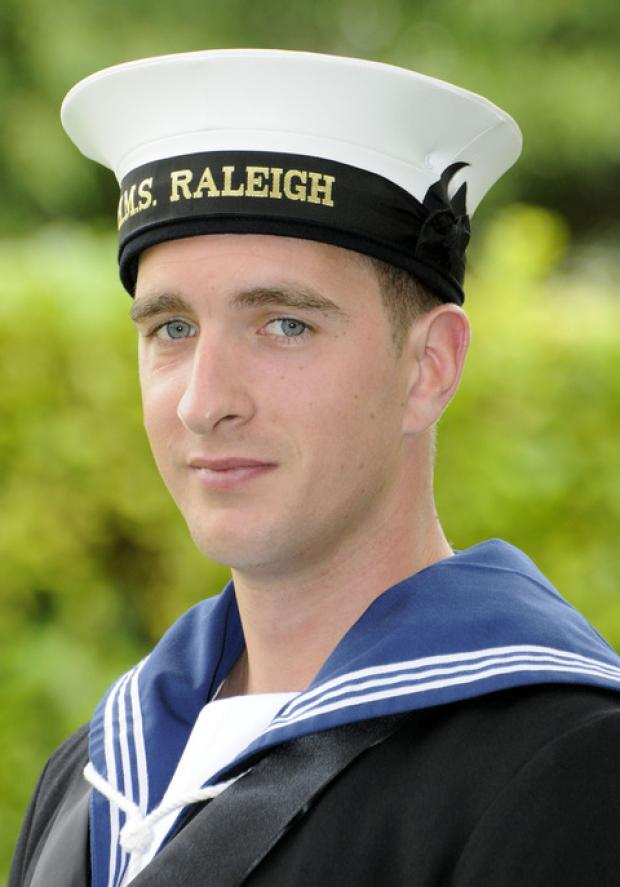 Trainee sailor Luke Spiers