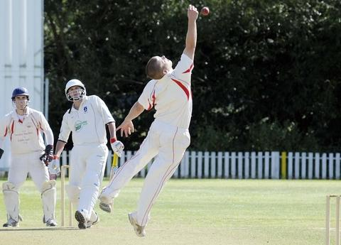 Half ton Stu: Stuart Harris gets a reprieve in Studley's loss to Streetly. Picture: MARTIN HUMBY