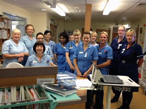 The nursing team on Ward 2 of Redditch's Alexandra Hospital
