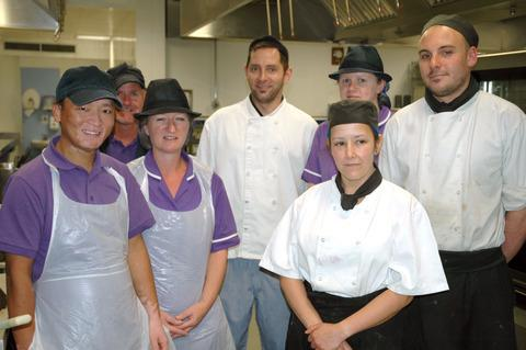 Members of the Alex Hospital catering team