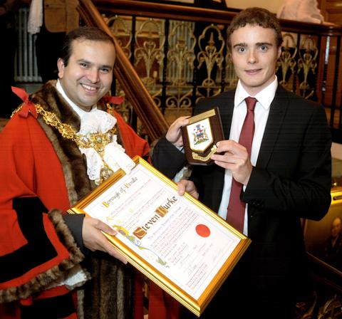 Redditch Advertiser: Steven Burke becomes a freeman of Pendle