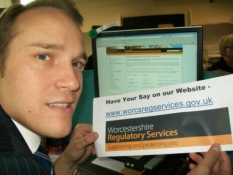 Councillor Marcus Hart surfs the new website