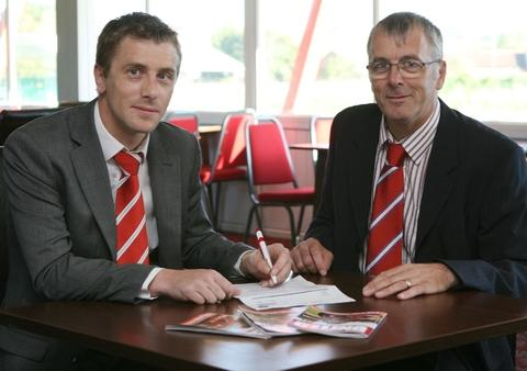 New directors: Aarron Byng (left) and Dave English have joined Redditch's board.