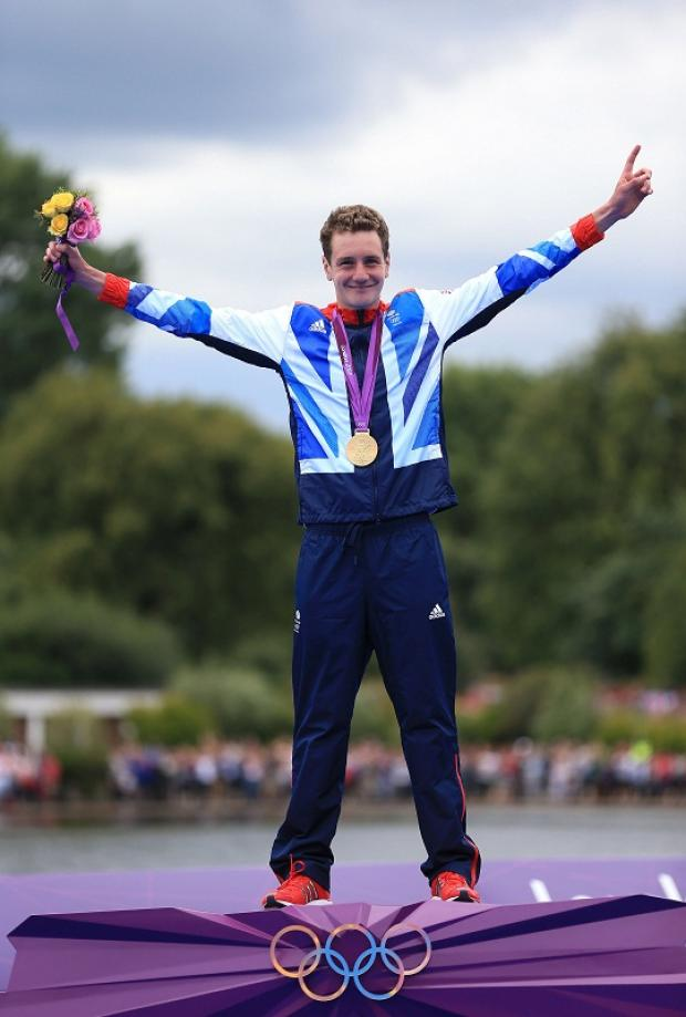 Alistair Brownlee, seen celebrating his Olympic gold medal, made his first ever visit to hospital when he had his appendix removed
