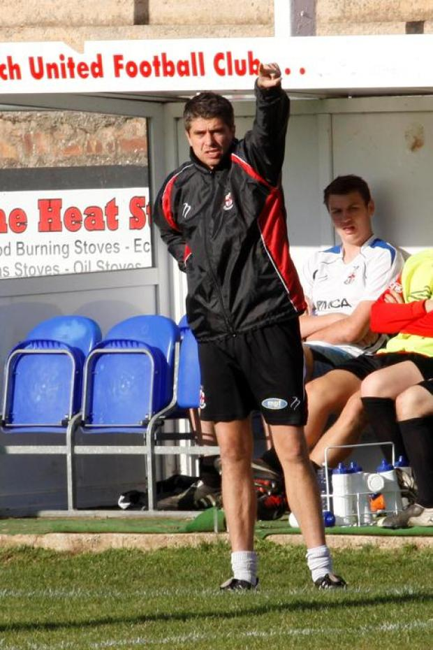 Red alert: Redditch boss Simon Redhead is under pressure. Picture: CRAIG ROSS