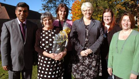 Tarun Sharma, Jean Docker, Sally Smith, Mr and Mrs Docker's daughter Helen West, Laura Knowles and Sarah Ruck
