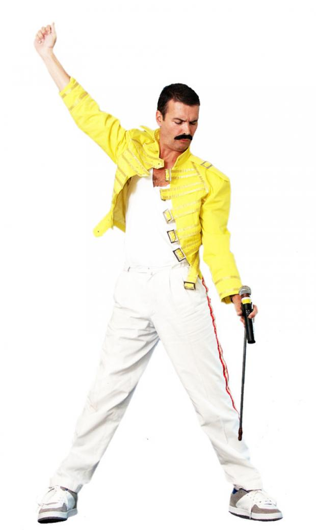 Paul Jackson as the legendary Freddie Mercury