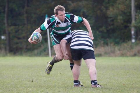Andrew Poole on the attack for Woodrush. Picture: CRAIG ROSS