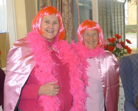 Waterloo House residents Ann Parkinson and Maude Mutton.