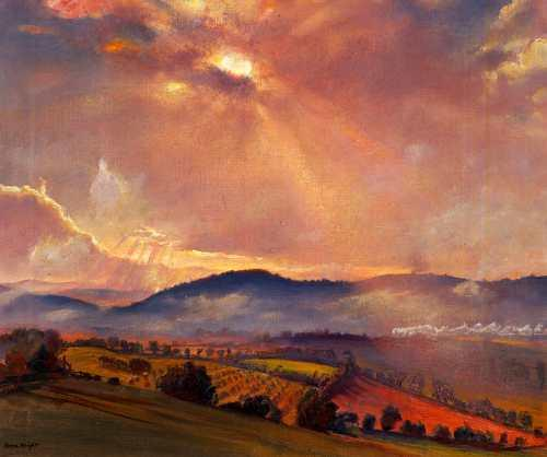 Autumn Sunset by Laura Knight