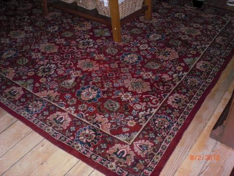 Wearing well: The Kidderminster-made carpet still in use in Canada.