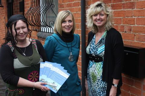 Karen Martin and Amanda Seabourne from Inspire with Suzy James from Worcestershire County Council.
