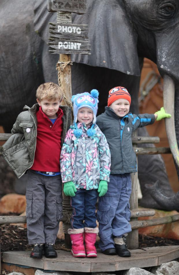 Louis, Scarlett and Oscar at West Midlands Safari Park