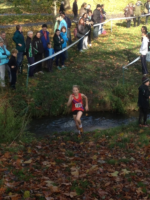 Tough going: Livvy Worth in action in the Gloucestershire Cross Country League.