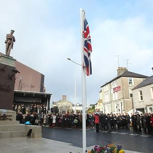 Redditch Advertiser: Enniskillen comes to a standstill to mark the 25th anniversary of the IRA Poppy Day bombing atrocity
