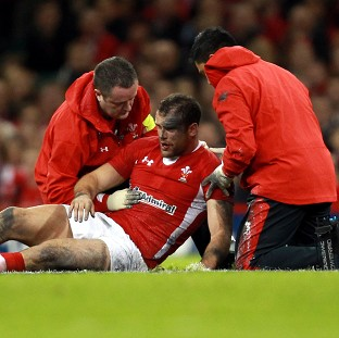 Wales centre Jamie Roberts was concussed following a clash of heads against Argentina