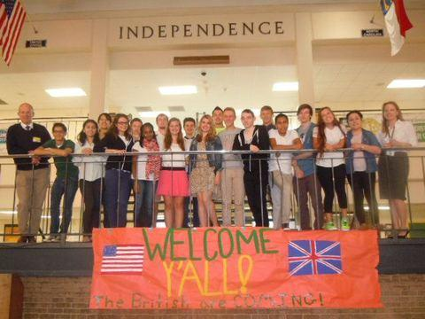 Redditch Advertiser: Kingsley students and their American hosts at Charlotte Independence School