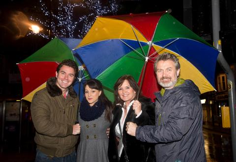 Rain fails to stop festive fun as Redditch's Christmas lights get turned on