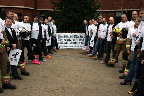 Redditch men put their best foot forward to raise awareness for domestic violence