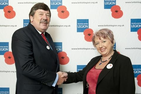 The Redditch area manager for the Royal British Legion, David Lowe meets with Karen Lumley MP.