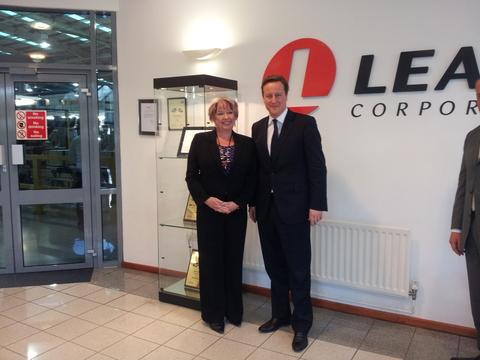 Karen Lumley MP with Prime Minister David Cameron