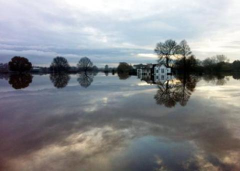 Redditch Advertiser: FLOODED: 2012 was second wettest on record. Picture by Amy Phillpott