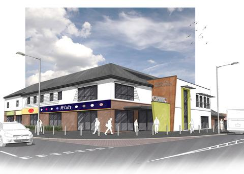 An artist's impression of the redevelopment of Church Hill Neighbourhood Centre