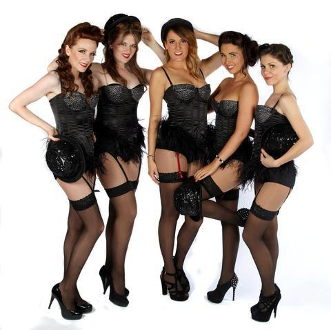 Laura Fleming (far right) with The Pin Ups.