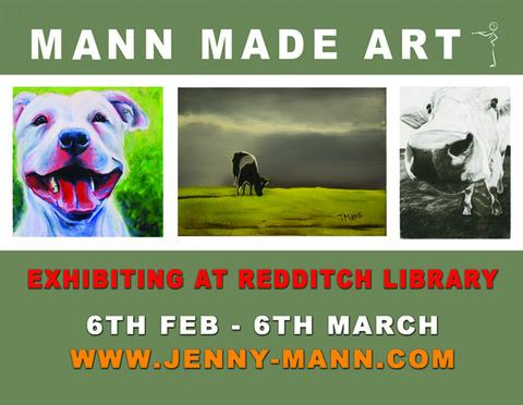 Art exhibition at Redditch Library