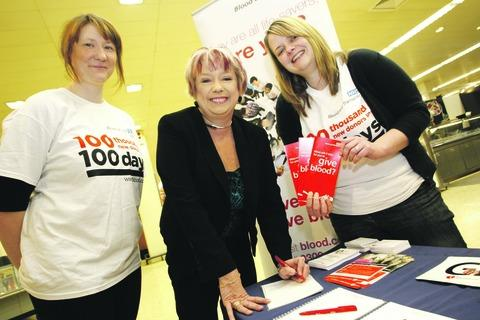 Redditch MP Karen Lumley with Karen Healey and Gemma Room