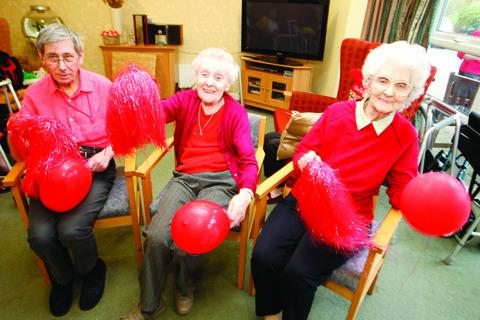Peter Worward, Irene Willis and Dorothy Turrell from Brambles Care Home.
