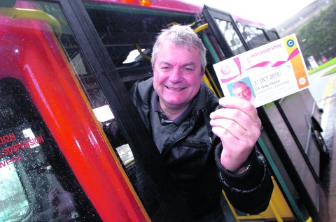 Councillor Greg Chance launches the scheme. Buy this photo RMM071305a